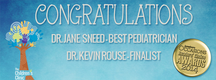 Dr. Jane Sneed was named Readers' Choice Winner and Dr. Kevin Rouse was named Readers' Choice Finalist for Best Pediatrician for 2014 by Jonesboro Occasions Magazine. Dr. Sneed joined The […]